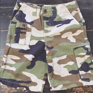 Girls Ralph Lauren camo shorts
